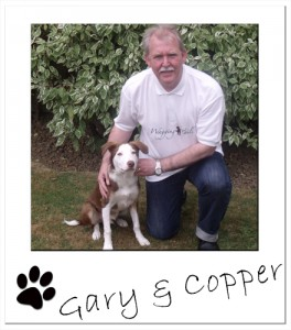 Wagging Tails North London franchisee, Gary, with his dog Copper