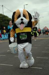 Mascot Bernie running The Great South Run
