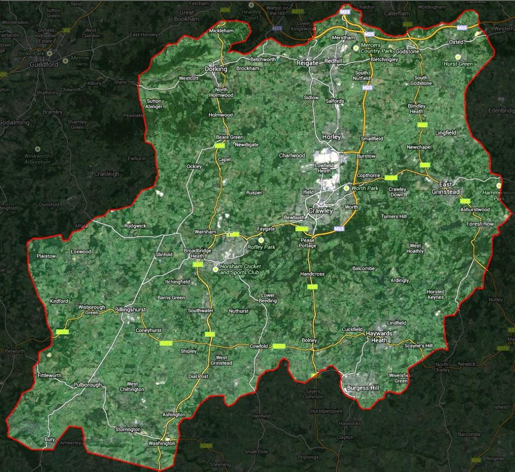 RH Postcode Map