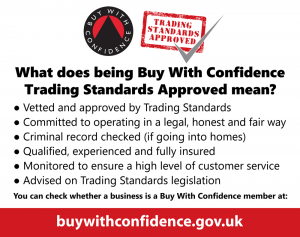 Trading Standards 'Buy with Confidence' Bullet points image