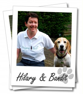 Franchisee Hilary Coates with her beagle, Bandit.