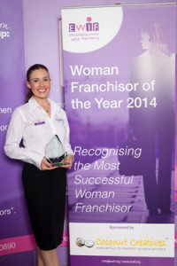 Wagging Tails Director Lisa Suswain wins EWIF Woman Franchisor of the Year 2014