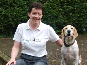 Wagging Tails Swindon franchisee Hilary Coates with her beagle, Bandit