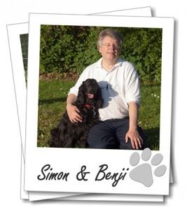 Simon Eccles with his Cocker Spaniel Benji