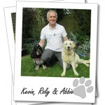 Kevin Wright with his dogs Roly and Abbie