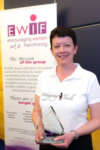 Wagging Tails franchisee Hilary Coates with her 2015 EWIF Award