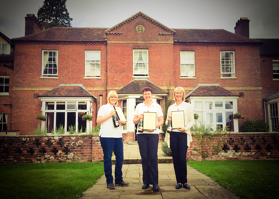 Award winning Franchisees Alexis, Hilary and Sue with their prizes