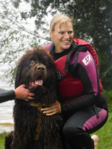 "Wagging Tails franchisee Alexis Bennett post rescue at ""Take the Plunge II"""