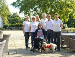 Wagging Tails' award winning Franchisees pictured with Paralympic Gold Medalist Helene Raynsford and company Directors Jim & Lisa Suswain