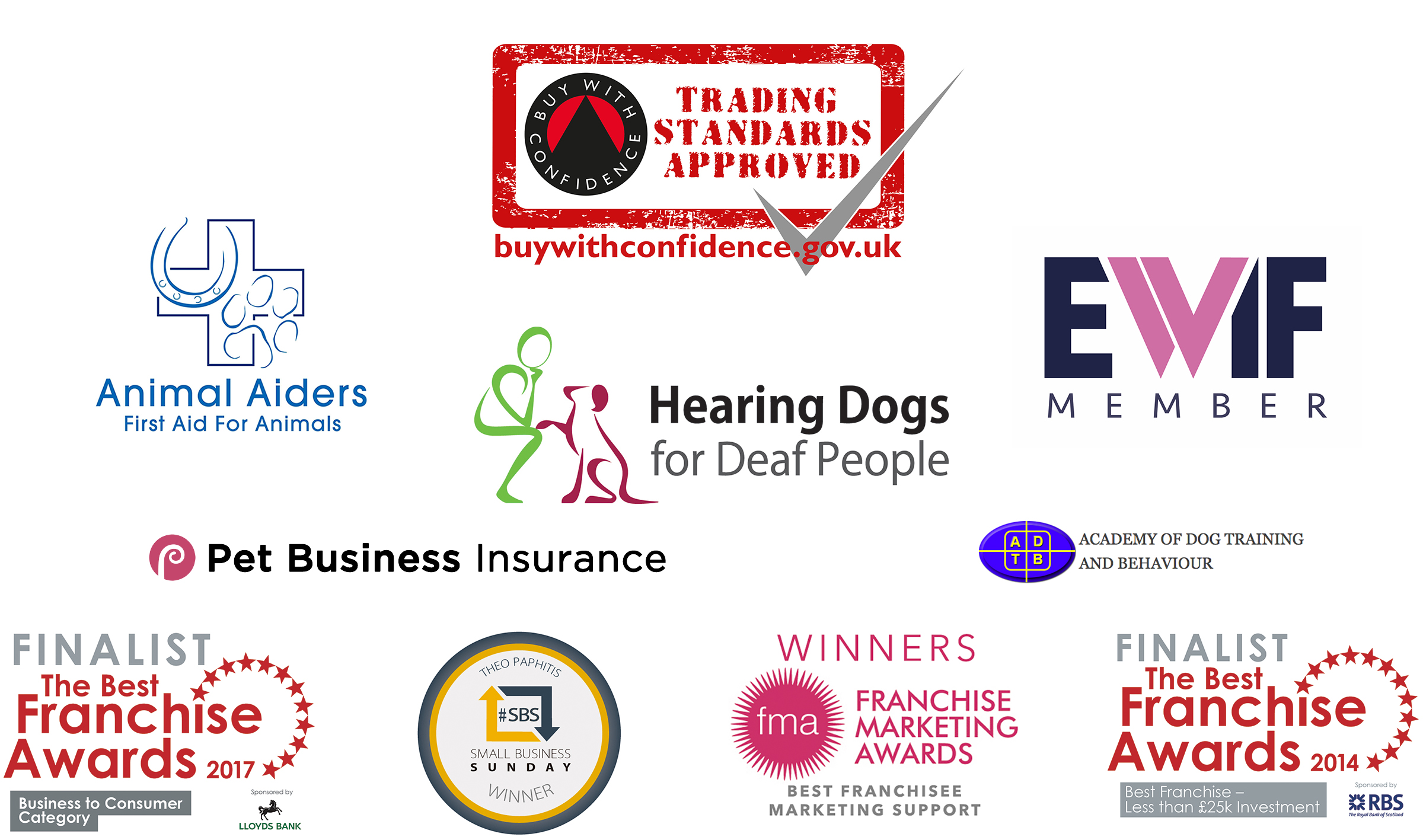Organisations and awards associated with Wagging Tails home dog boarding
